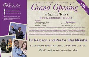 Email Advert North Houston Grand Opening