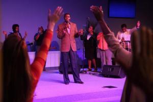 DRM leading worship